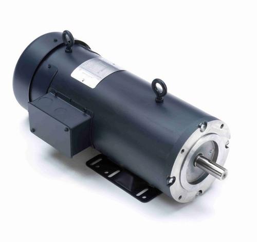 Z616 Marathon 2 hp 180 V DC SCR 1750 RPM Perm. Magnet C-Face 145TC Frame TEFC (rigid base)