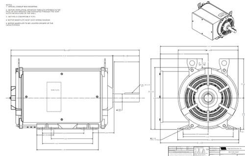 Z319 Marathon 16 hp 1800 RPM 230V ODP 256TZ Frame (Crop Dryer) Motor