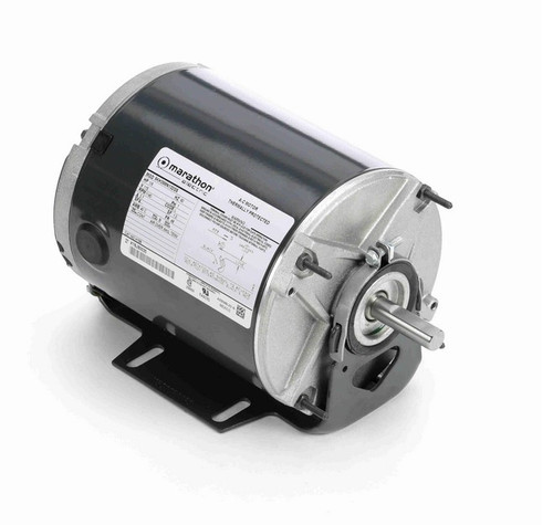 H198 Marathon 1/6 hp 1200 RPM 115V TENV 48 Frame Split-Phase Farm Motor