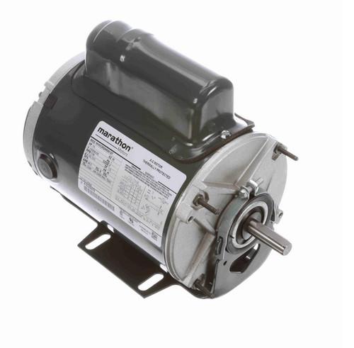 HG648 Marathon 1/3 hp 1800 RPM 115/208-230V TEAO 48 Frame Cap Run Farm Motor