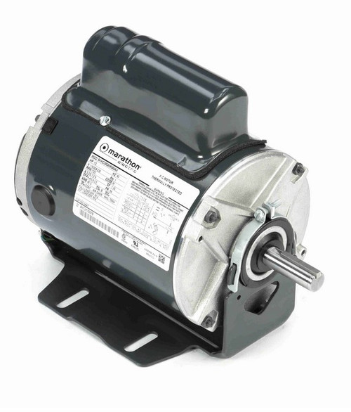 H647 Marathon 1/2 hp 1800 RPM 115/208-230V TENV 56 Frame Split-Phase Farm Motor