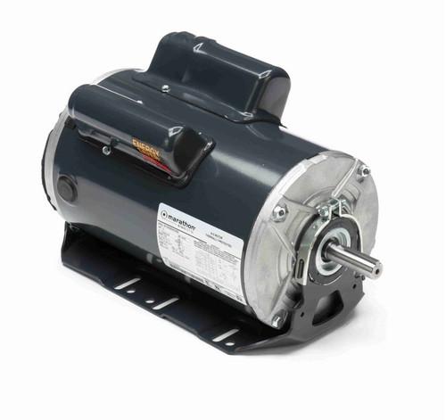 C1909 Marathon 1 1/2 hp 1800 RPM 115/208-230V TENV 56 Frame Cap Start/Run Farm Motor