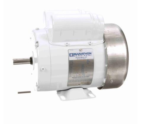 N681 Marathon 3/4 hp 1800 RPM 115/208-230V 1-Phase 56 Frame TEFC (rigid base) Washdown Motor