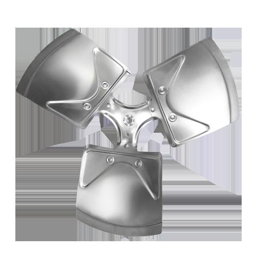 "XW1803-35RA Revcor Fan Blade, 18 Inch Dia, Three Blade, 35 Degree Pitch, CW, 1/2"" Hub Bore"