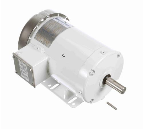 N321A Marathon 1 1/2 hp 1800 RPM 230/460V 3-Phase 145T Frame TEFC (rigid base) Washdown Motor