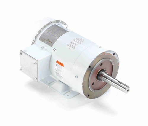 N201A Marathon 1 hp 1800 RPM 230/460V 3-Phase 143JM Frame TEFC (rigid base) Washdown Motor