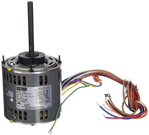 "Fasco D701 Motor | 1/2 hp 1075 RPM 4-Speed 115 Volts 5.6"" Diameter Fasco Furnace Motor"