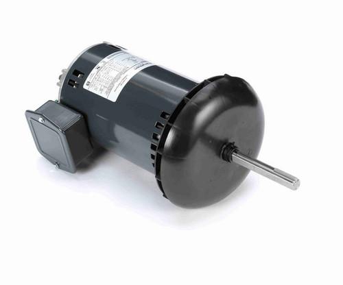 K1402 Marathon 1 hp 3-phase 200-230/460V 1200 RPM Open 48Z Frame Canopy Condenser Fan Motor