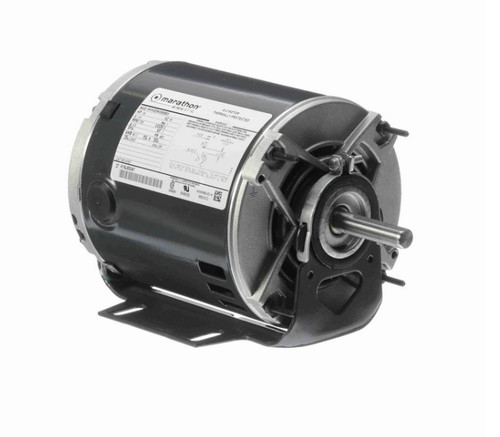 H157 Marathon 1/6 hp (1 speed) 115V 1800 RPM ODP 48Z Frame Resilient Base  Blower Motor