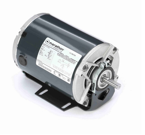 H112 Marathon 1/6 hp (1 speed) 115V 1200 RPM ODP 48 Frame Resilient Base  Blower Motor