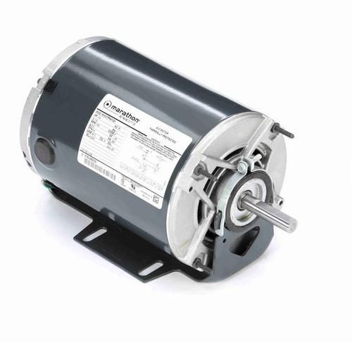 H159 Marathon 1/6 hp (1 speed) 115V 1200 RPM ODP 48Z Frame Resilient Base  Blower Motor