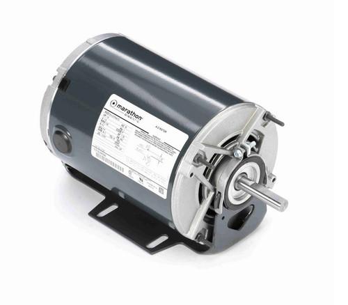 H158 Marathon 1/6 hp (1 speed) 115V 1200 RPM ODP 48Z Frame Resilient Base  Blower Motor
