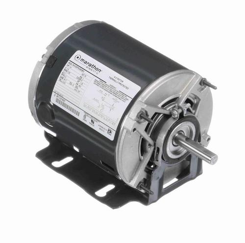 HG161 Marathon 1/4 hp (1 speed) 115V 1800 RPM ODP 48Z Frame Resilient Base  Blower Motor