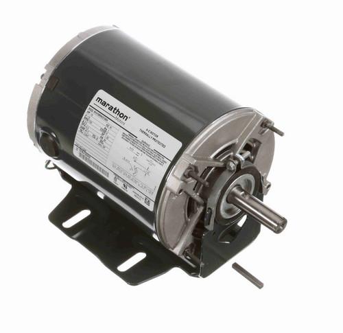 H248 Marathon 1/2 hp (1 speed) 115V 1800 RPM ODP 56 Frame Resilient Base  Blower Motor