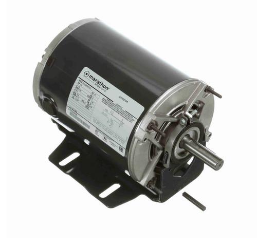 H286 Marathon 1/2 hp (1 speed) 115V 1800 RPM ODP 56 Frame Resilient Base  Blower Motor