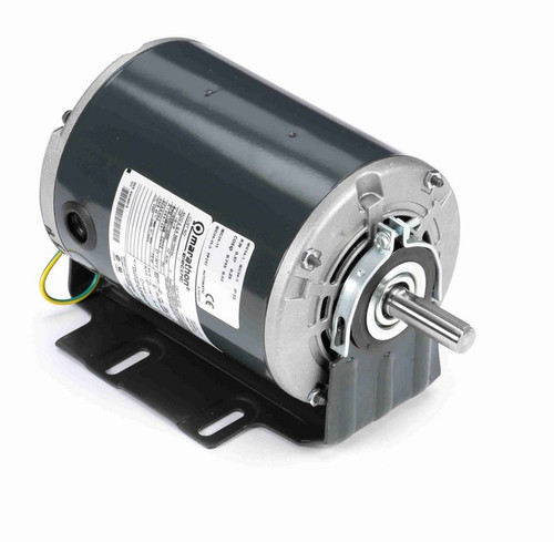 B100 Marathon 1/2 hp (1 speed) 115/230V 1800 RPM ODP 56 Frame Resilient Base  Blower Motor