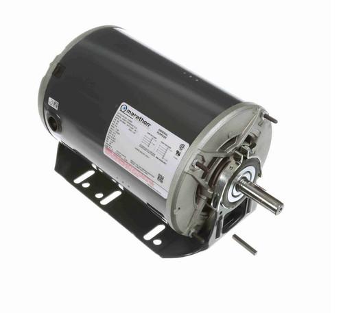 H298A Marathon 1/2 hp (1 speed) 115/230V 1200 RPM ODP 56 Frame Resilient Base  Blower Motor
