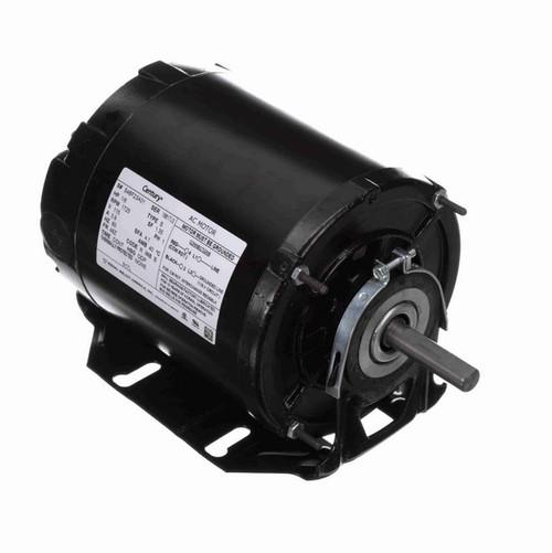 917L Century 1/6 hp (1 speed) 115V 1800 RPM ODP 48Z Frame Resilient Base  Blower Motor