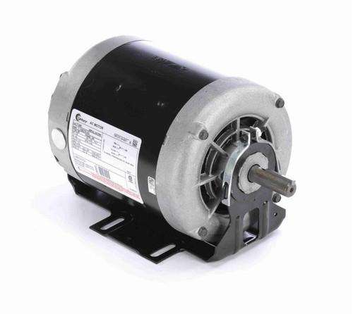 F340 Century 1/4 hp (1 speed) 115V 1200 RPM ODP 56 Frame Resilient Base  Blower Motor