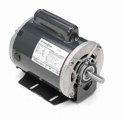 C1258 Marathon 1/3 hp (1 speed) 115/230V 1200 RPM ODP 56 Frame Cap Start Resilient Base Motor