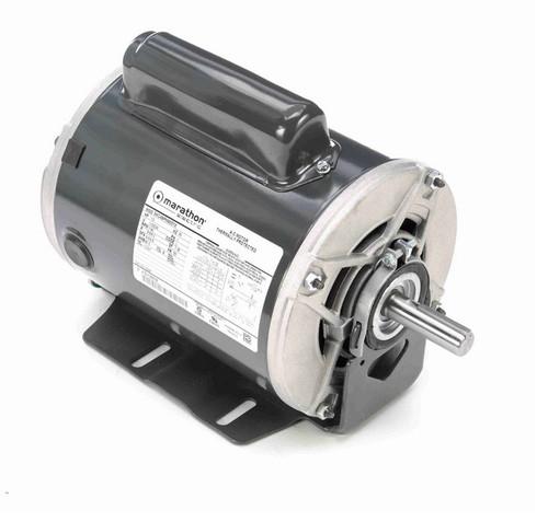 C548 Marathon 1/3 hp (1 speed) 115/230V 1200 RPM ODP 56 Frame Cap Start Resilient Base Motor