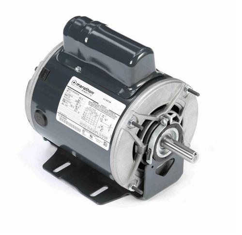 B1316 Marathon 1/2 hp (1 speed) 115/208-230V 1800 RPM ODP 56 Frame Cap Start Resilient Base Motor