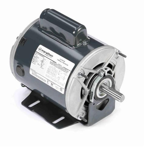 C1153 Marathon 1/2 hp (1 speed) 115/208-230V 1800 RPM ODP 56 Frame Cap Start Resilient Base Motor