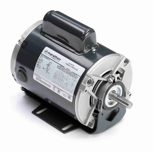C133 Marathon 1/2 hp (1 speed) 115/230V 1800 RPM ODP 48 Frame Cap Start Resilient Base Motor
