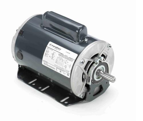 C1264 Marathon 1/2 hp (1 speed) 115/230V 1200 RPM ODP 56 Frame Cap Start Resilient Base Motor