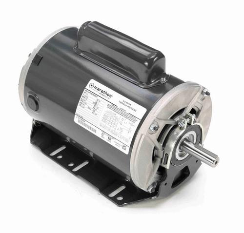 C552 Marathon 1/2 hp (1 speed) 115/230V 1200 RPM ODP 56 Frame Cap Start Resilient Base Motor