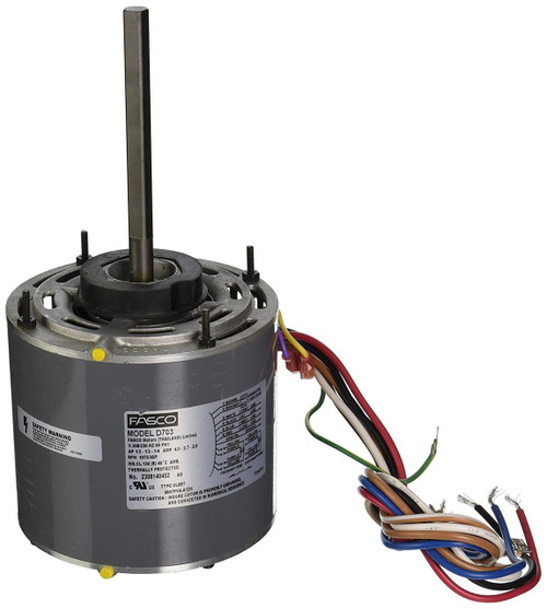 "Fasco D703 Motor | 1/2 hp 1075 RPM 3-Speed 208-230 Volts 5.6"" Diameter Fasco Furnace Motor"
