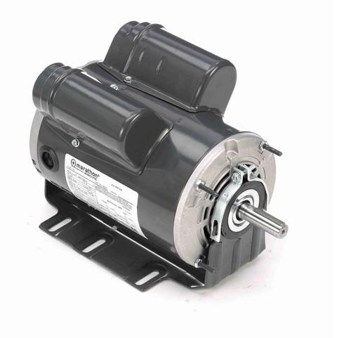 B609 Marathon 3/4 hp (1 speed) 277V 1800 RPM ODP 56 Frame Cap Start/Run Resilient Base Motor