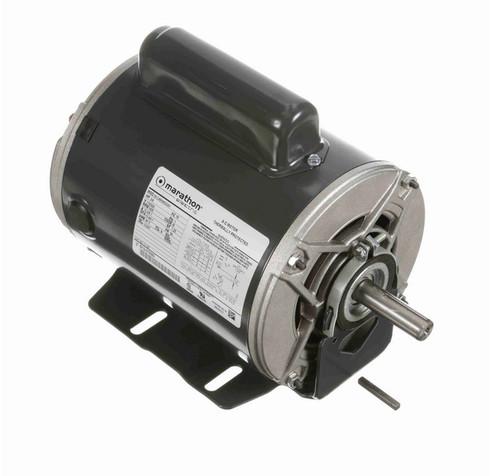 C1187 Marathon 3/4 hp (1 speed) 110/220V 1500 RPM ODP 56 Frame 50 Hz Cap Start Resilient Base Motor