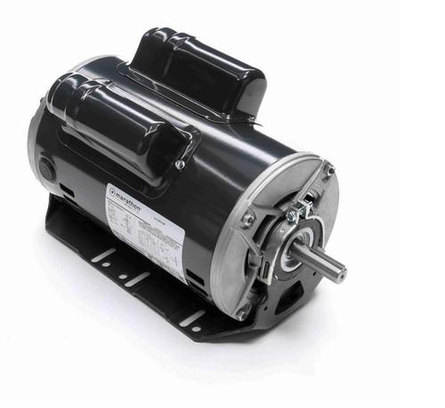 CG232 Marathon 3/4 hp (1 speed) 1115-230V 1200 RPM ODP 56 Frame Cap Start/Run Resilient Base Motor
