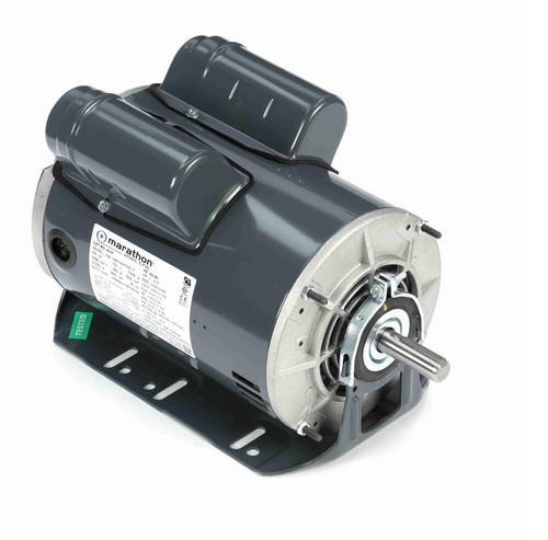 B335 Marathon 1 hp (2 speed) 115V 1800 RPM ODP 56 Frame Cap Start/Run Resilient Base Motor