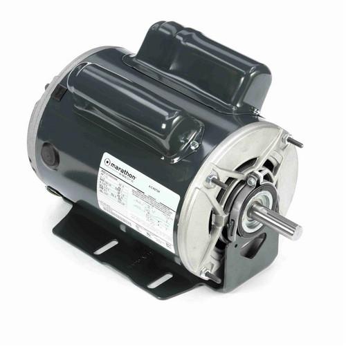 C475 Marathon 1 hp (2 speed) 115V 1800 RPM ODP 56 Frame Cap Start/Run Resilient Base Motor