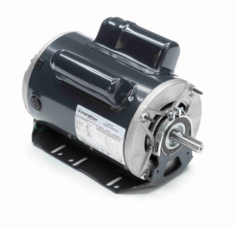 C1479 Marathon 1 hp (2 speed) 208-230/190-220V 1800 RPM ODP 56H Frame Cap Start/Run Resilient Base Motor