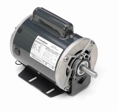 C1158 Marathon 1 hp (1 speed) 115/208-230V 1725 RPM ODP 56 Frame Cap Start Resilient Base Motor