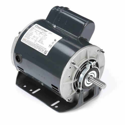 S117 Marathon 1 hp (1 speed) 115/230V 1800 RPM ODP 56 Frame Cap Start Resilient Base Motor