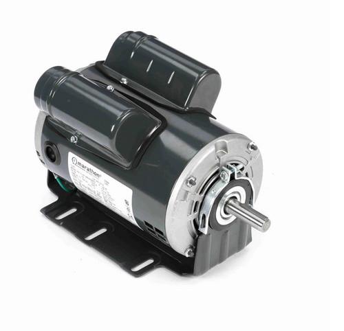 D115 Marathon 1 1/2 hp (1 speed) 115/208-230V 3600 RPM ODP 56 Frame Cap Start/Run Resilient Base Motor