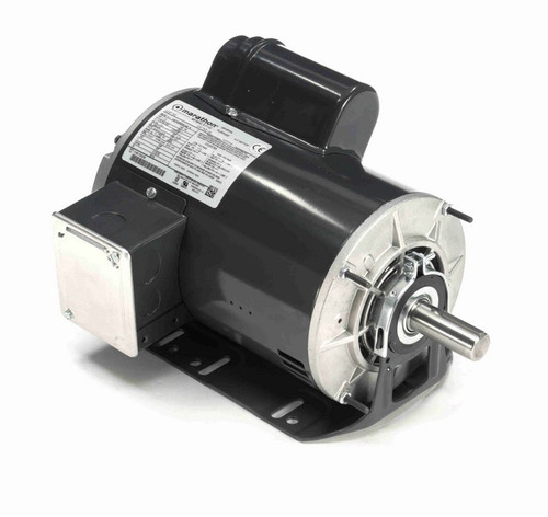 I146 Marathon 1 1/2 hp (1 speed) 115/208-230V 1800 RPM ODP 145T Frame Cap Start Resilient Base Motor