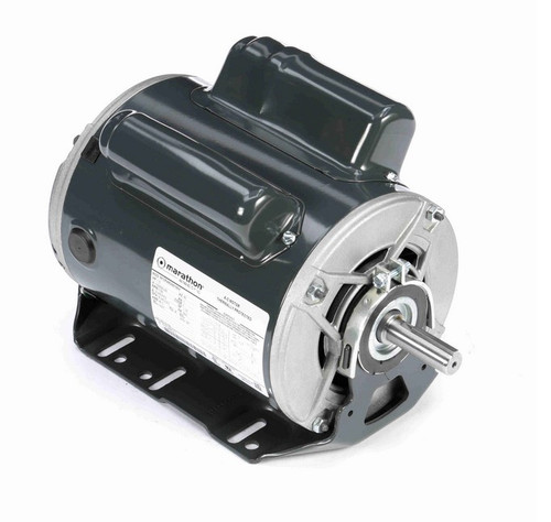 C1160 Marathon 1 1/2 hp (1 speed) 115/208-230V 1800 RPM ODP 56H Frame Cap Start/Run Resilient Base Motor