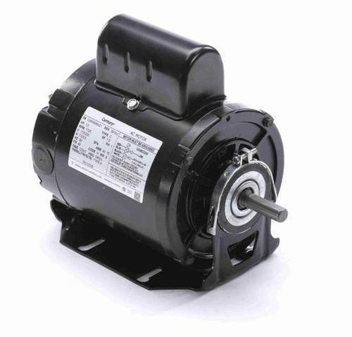 RS1030B Century 1/3 hp (1 speed) 115/230V 1800 RPM Open 48 Frame Cap Start Resilient Base Motor