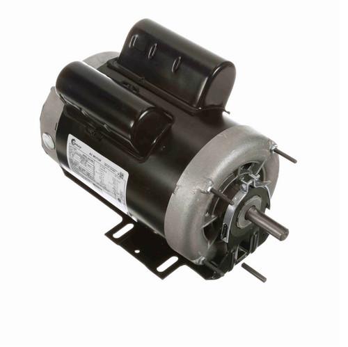 C341 Century 3/4 hp (1 speed) 115/230V 1200 RPM ODP 56 Frame Cap Start/Run Resilient Base Motor