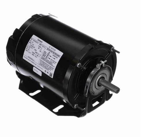 ARB2026SLV1 Century 1/4 hp (1 speed) 115/208-230V 1200 RPM TEAO 48Y Frame Split Phase Resilient Base Motor