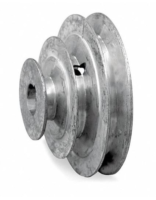"""6"""" Diameter - 3 Step Pulley 1/2"""" - 5/8"""" Fixed Bore - Die Cast by Congress"""