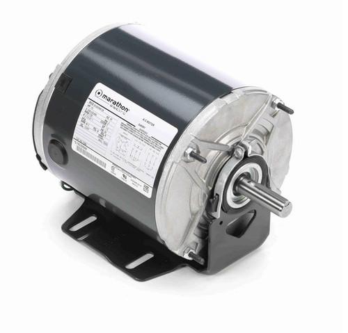 K284 Marathon 1/2 hp (1 speed) 208-230/460V 1800 RPM TEAO 56 Frame 3 Phase Resilient Base Motor