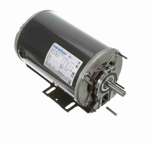 K525A Marathon 1 hp (1 speed) 230/460V 1800 RPM TENV 56 Frame 3 Phase Resilient Base Motor