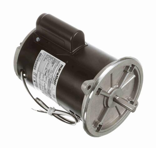 O011 Marathon 1/2 hp (1 speed) 115/208-230V 3600 RPM ODP 48NZ Frame Cap Start Oil Burner Motor