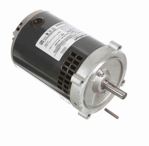 O201 Marathon 1/3 hp (1 speed) 115V 3600 RPM ODP 56C Frame Split Phase Oil Burner Motor